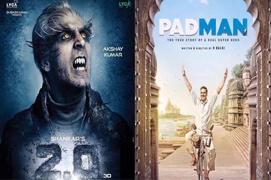 2017 में बॉलीवुड के खिलाड़ी छाए रहे. अब 2018 में भी वे चमकने वाले हैं. उनकी चार फिल्में रिलीज होंगी. (फोटो : फिल्म पोस्टर).