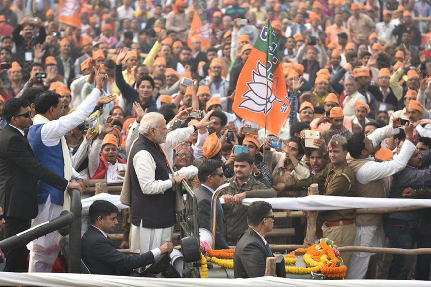 राज्य में पिछले दो दशकों से पार्टी आराम से मोदी के नाम पर चुनाव लड़ती और आसानी से जीतती आई थी. (फोटो : bjp.org).